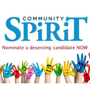 Nomination deadline extended for Community Spirit Award!