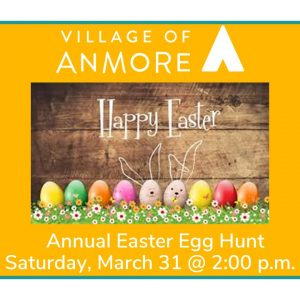 Annual Easter Egg Hunt – Saturday, March 31 at 2:00 p.m.