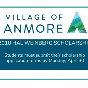 Village of Anmore 2018 Hal Weinberg Scholarship