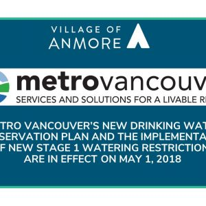 Metro Vancouver Water Shortage Response Plan and Lawn Watering Regulations in effect May 1, 2018