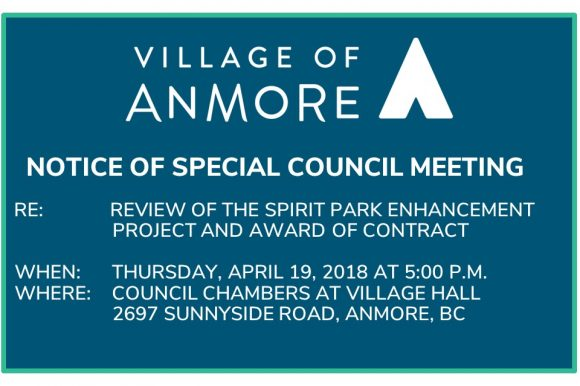 Notice of Special Council Meeting