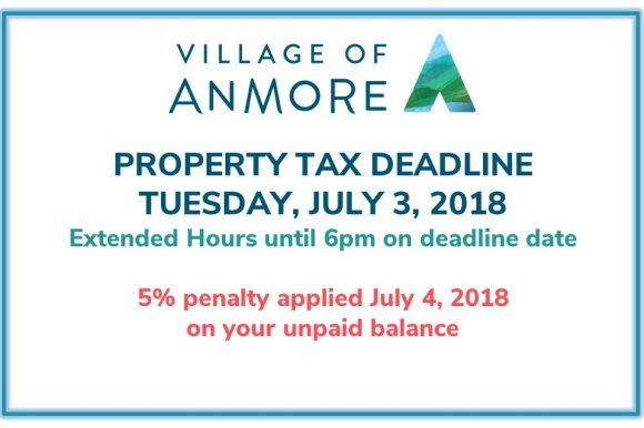 2018 Property Tax Payments Due July 3, 2018