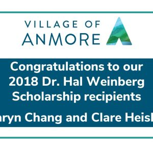 2018 Dr. Hal Weinberg Scholarship Recipients, Taryn Chang and Clare Heisler
