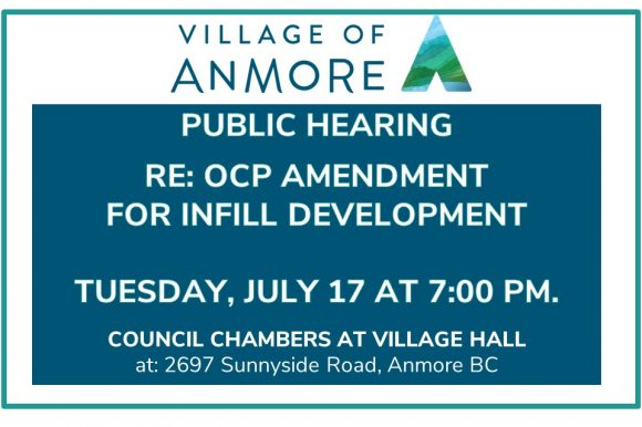 Notice of Public Hearing on Anmore Official Community Plan Amendment Bylaw No. 576-2018