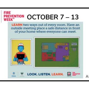 Fire Prevention Week ~ October 7 – 13, 2018