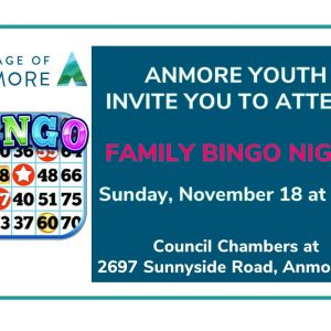 Anmore Youth host Family Bingo Night