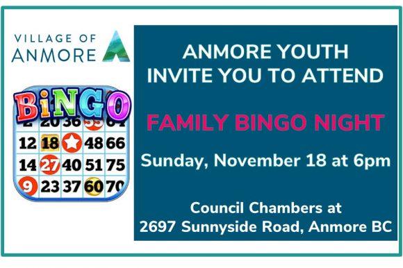 Anmore Youth host Family Bingo Night