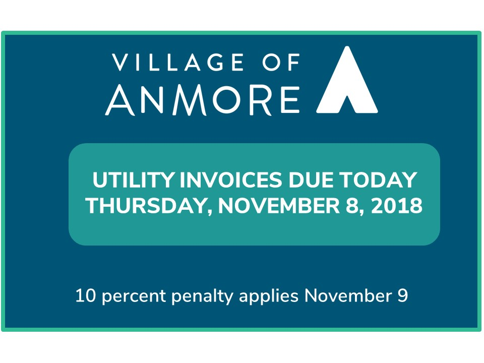 Utility Invoice Due Date Anmore Village
