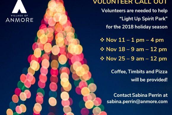 Help to Light up Spirit Park each Sunday throughout November