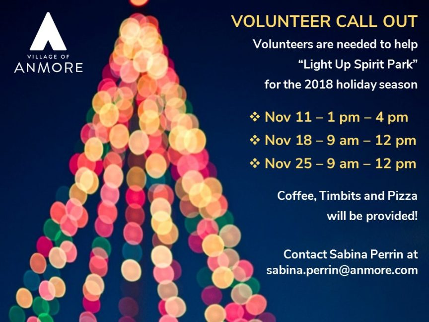 2018-11 Volunteer Call Out