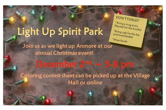 Light up Spirit Park – Holiday Event