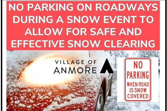 No Parking on Roadways during a snow event!