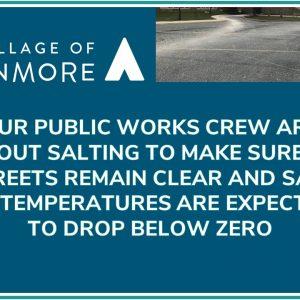 Public Works Crew Salting