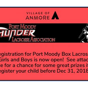 Registration now open for Port Moody Box Lacrosse