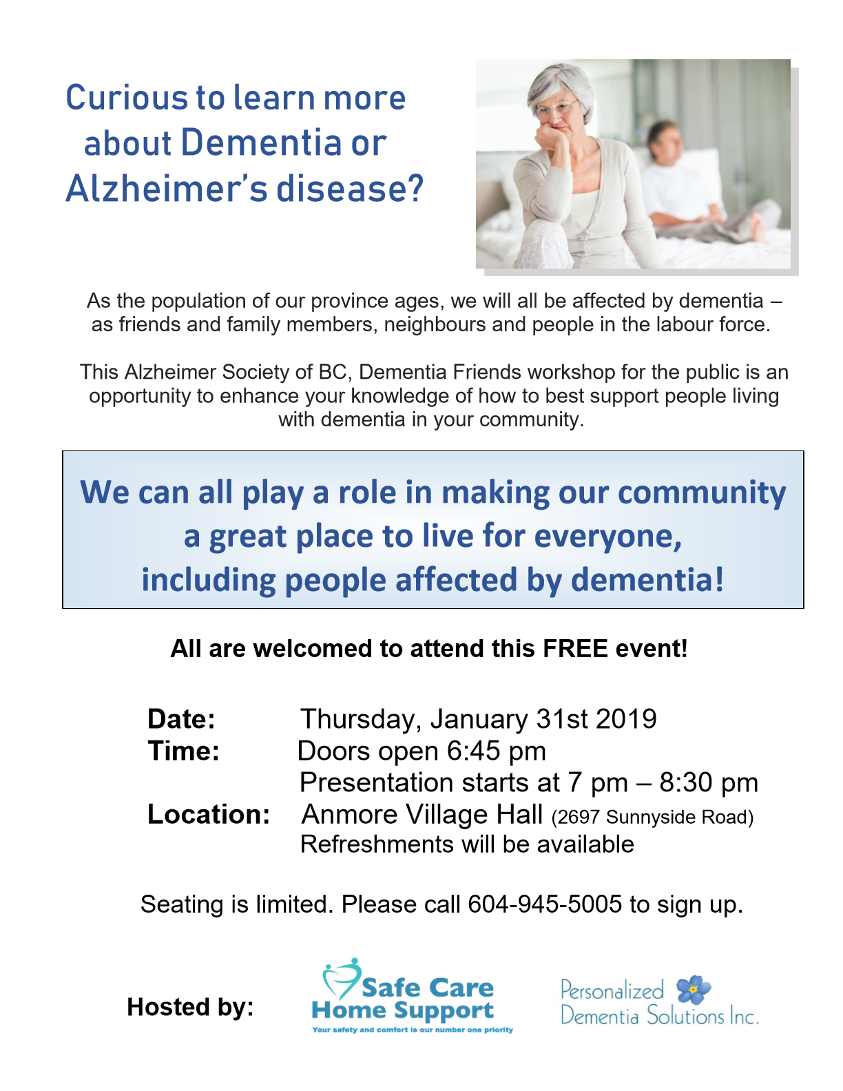 2019-01-31 Final Poster for Dementia Presentation Jan 31 2019 Anmore