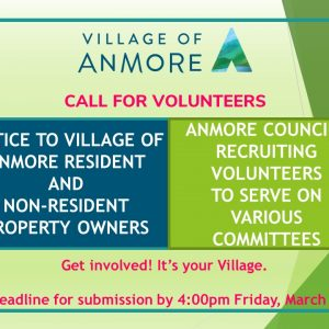 CALL FOR VOLUNTEERS ~ Deadline 4:00pm Friday, March 1
