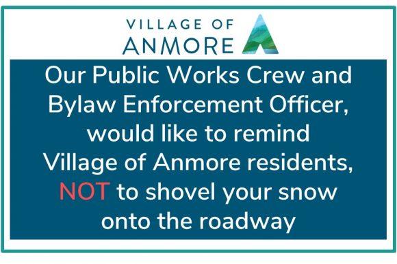 Do Not Shovel Snow onto Roadways