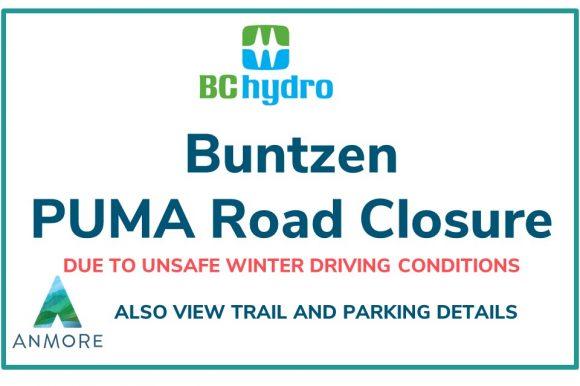 Buntzen Puma Road Closure and Update