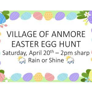 Anmore Easter Egg Hunt ~ Saturday, April 20 at 2pm sharp!