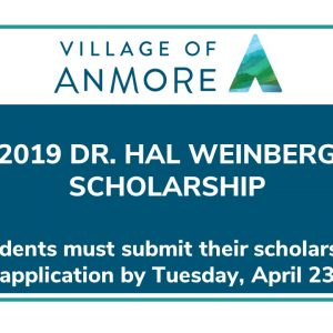 2019 Dr. Hal Weinberg Scholarship ~ April 23 deadline