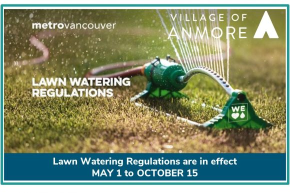 Lawn Watering Regulations are in effect May 1 to October 15