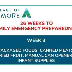 Week #3 of 26 Weeks to Family Emergency Preparedness