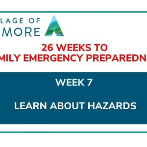 Week #7 of 26 Weeks to Family Emergency Preparedness