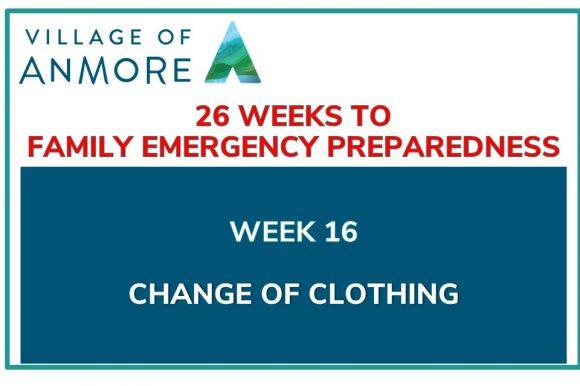 Week #16 of 26 Weeks to Family Emergency Preparedness