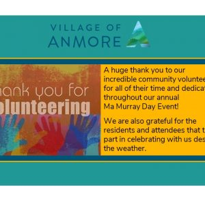 Thank you Volunteers and Attendees!