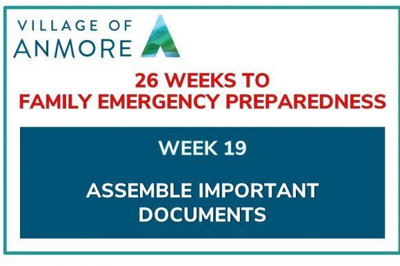 Week #19 of 26 Weeks to Family Emergency Preparedness