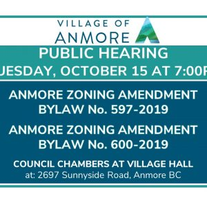 Public Hearing on Anmore Zoning Amendments