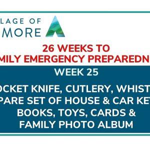 Week #25 of 26 Weeks to Family Emergency Preparedness