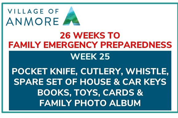 Week #25 of 26 Weeks to Family Emergency Preparedness