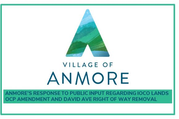 Anmore's response to public input regarding Ioco Lands OCP Amendment and David Ave right of way removal