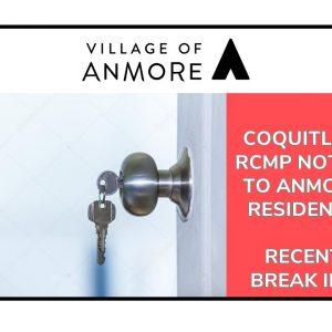 Coquitlam RCMP – Notice of recent break-ins