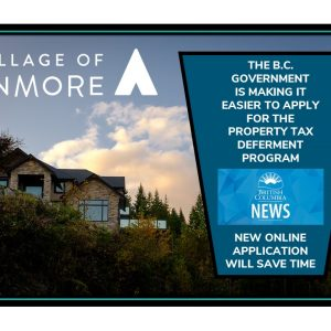 B.C. Ministry of Finance Property Tax Deferment Program Now Online