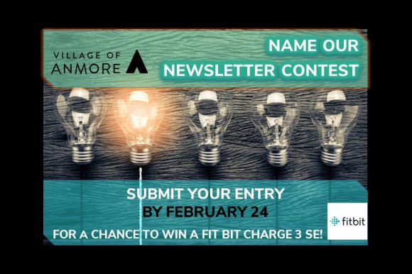 NAME OUR NEWSLETTER CONTEST enter by February 24!