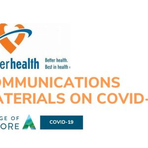 Fraser Health Authority Communications materials on COVID-19