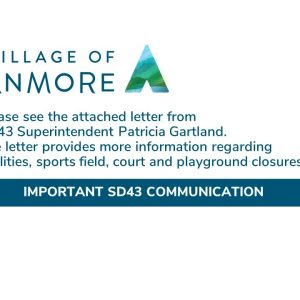 Letter from SD43 Superintendent/CEO, Patricia Gartland
