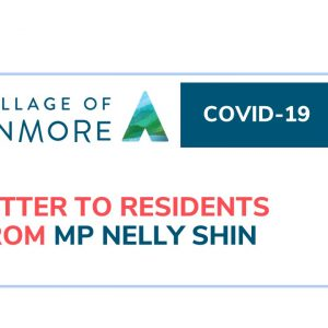 MP Nelly Shin Letter to residents