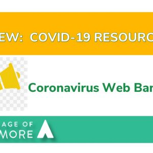 NEW: Covid-19 Resources Banner Page!