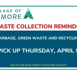 Waste collection Pick Up is on Thursday, April 9