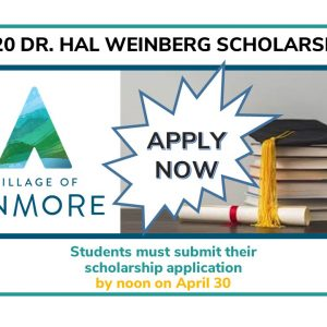 2020 Dr. Hal Weinberg Scholarship APPLY NOW