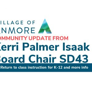 SD43 Community Update – Return to in class instruction