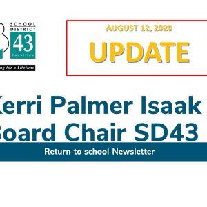 SD43 Return to School Newsletter