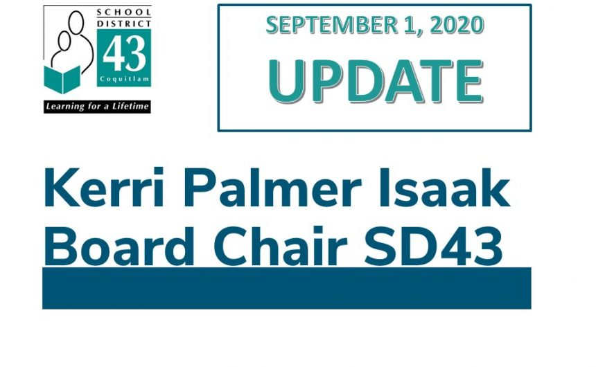 SD43 Return to School – Sept 1 Update