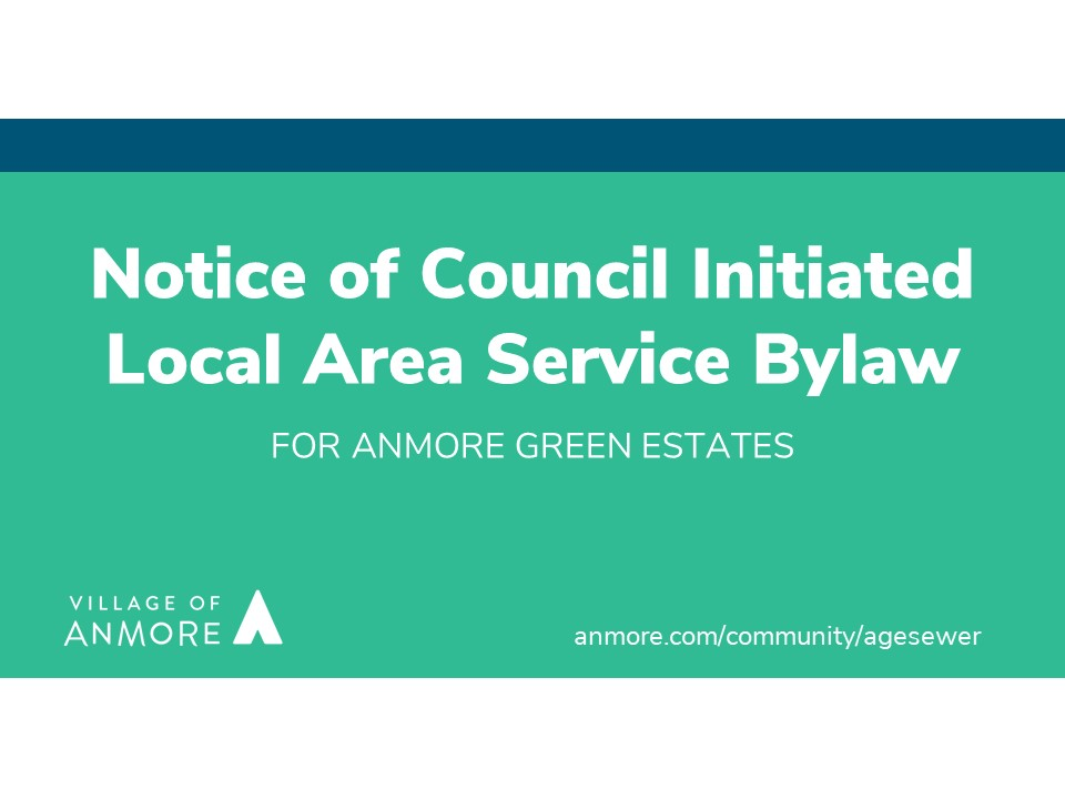 Notice of Local Area Service Bylaw for AGE